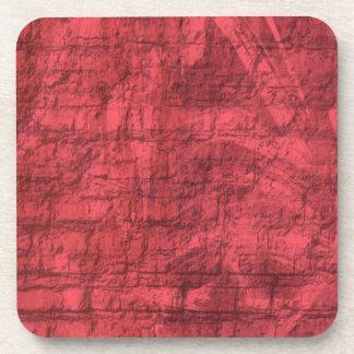 Rouge texturisé dessous-de-verre