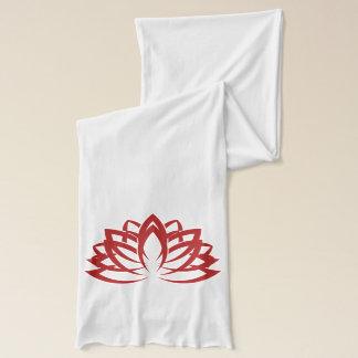 Rouge tranquille (TM) et blanc d'écharpe de Lotus Écharpe Sheer d'American Apparel