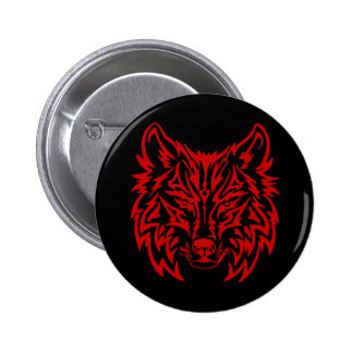 Rouge tribal de loup badges