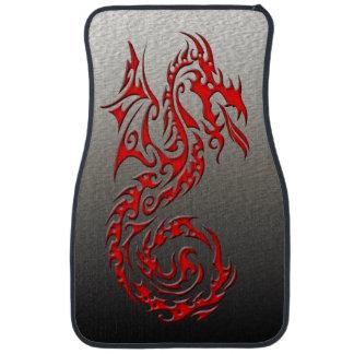 Rouge tribal du dragon 3 tapis de voiture