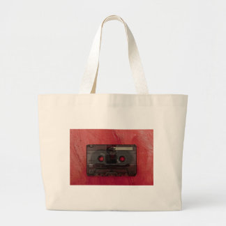 Rouge vintage de musique d'enregistreur à grand sac