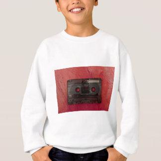Rouge vintage de musique d'enregistreur à sweatshirt