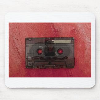 Rouge vintage de musique d'enregistreur à tapis de souris
