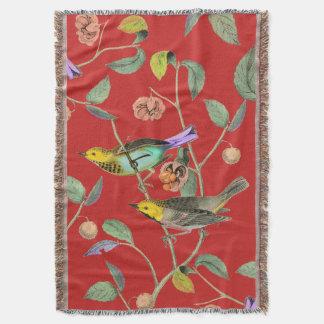 Rouge vintage d'oiseau chanteur couverture