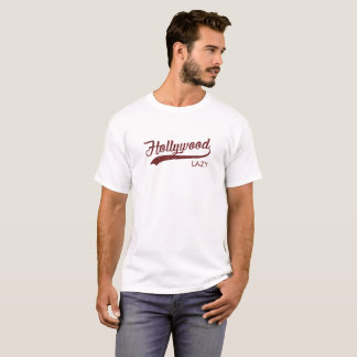 Rouge vintage paresseux du T-shirt | de Hollywood