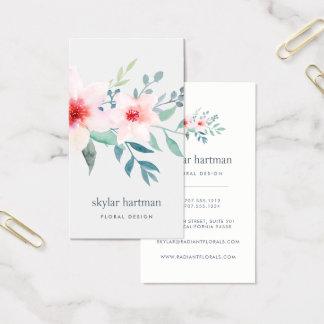 Rougissent et la verticale florale sage de | cartes de visite