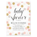 Rougissent et l'invitation de baby shower de pois carton d'invitation  12,7 cm x 17,78 cm