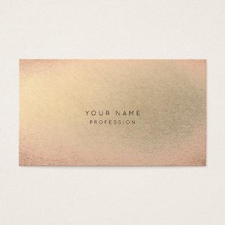 Rougissent la beauté minimale de peau de champagne cartes de visite