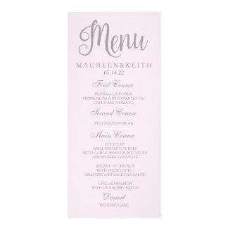 Rougissent la carte de menu personnalisée par rose