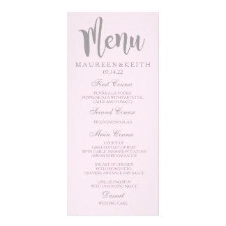 Rougissent la carte de menu personnalisée par rose carte double