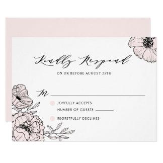 Rougissent la carte l'épousant botanique rose de