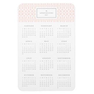 Rougissent l'aimant annuel de calendrier du magnet flexible