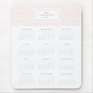 Rougissent le calendrier annuel Mousepad de Tapis De Souris