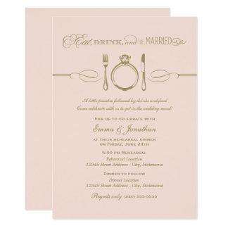 Rougissent le dîner | de répétition mangent la carton d'invitation  12,7 cm x 17,78 cm