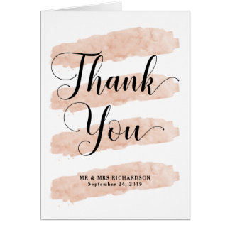 Rougissent le Merci abstrait d'aquarelle des Carte De Vœux