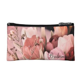 Rougissent le sac cosmétique nuptiale de bouquet