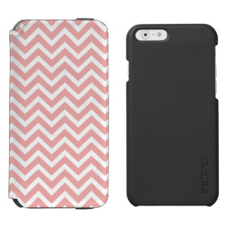 Rougissent le zigzag rose et blanc de Chevron Coque-portefeuille iPhone 6 Incipio Watson™