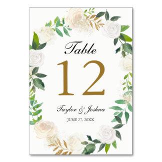 Rougissent les cartes de Tableau de mariage de