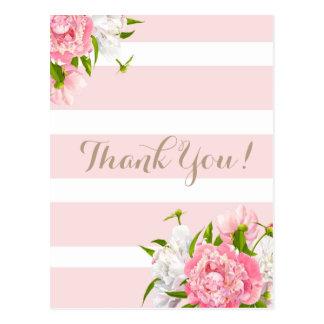 Rougissent les cartes postales florales roses de