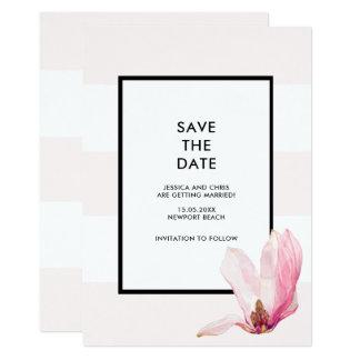 Rougissent les économies roses de magnolia de carton d'invitation  12,7 cm x 17,78 cm