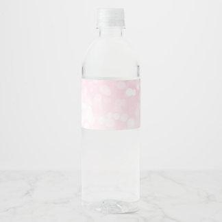 Rougissent les étiquettes roses de bouteille d'eau