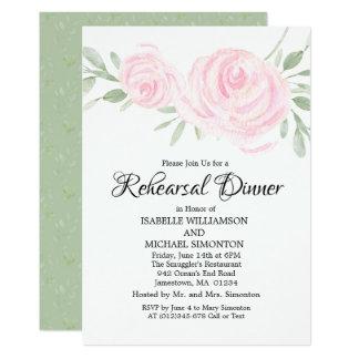 Rougissent les invitations roses de dîner de