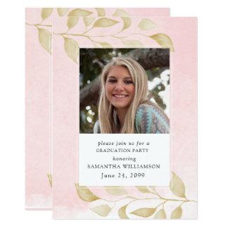 Rougissent les invitations roses de fête de remise