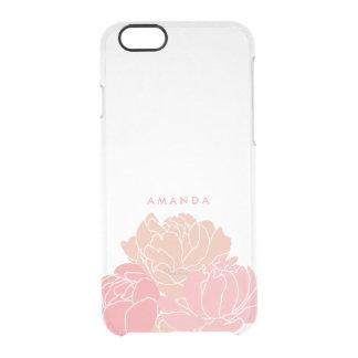 Rougissent les pivoines roses ont personnalisé le coque iPhone 6/6S