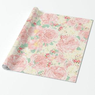 Rougissent les roses de Bohème roses de pastel de Papier Cadeau
