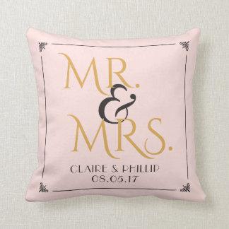 Rougissent M. et Mme roses Wedding Keepsake de Coussin
