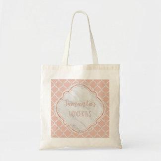 Rougissez et marbrez le sac fourre-tout à treillis