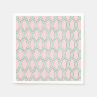 Rougissez et monnayez le motif géométrique moderne serviette jetable