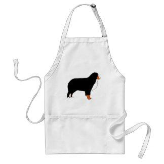 Rouille de silhouette de chien de montagne de tablier
