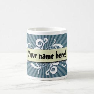 Rouleau avec l'arrière - plan bleu mug