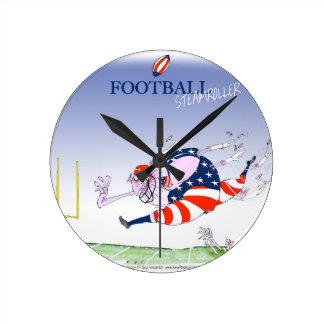Rouleau compresseur du football, fernandes horloge ronde