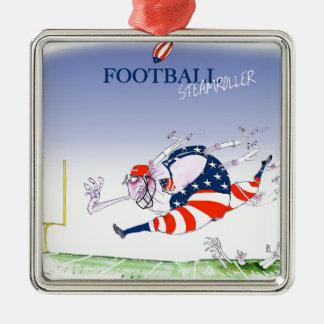 Rouleau compresseur du football, fernandes ornement carré argenté
