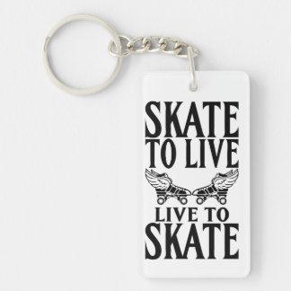 Rouleau Derby, patin à vivre vivant pour patiner Porte-clé Rectangulaire En Acrylique Une Face