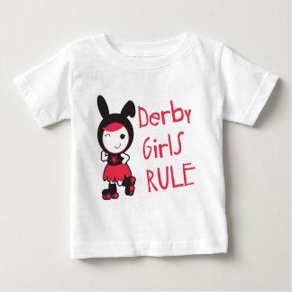 Rouleau Derby - règle de filles de Derby T-shirt Pour Bébé