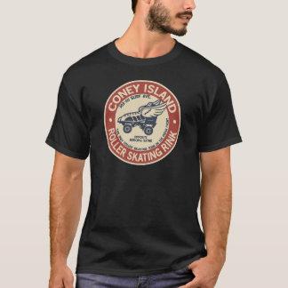 Rouleau vintage de Coney Island jalonnant la piste T-shirt