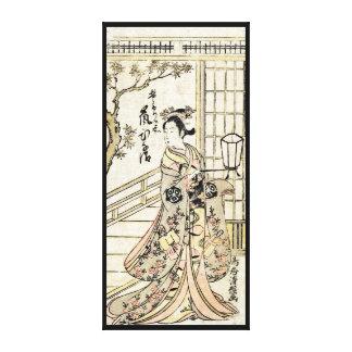 Rouleau vintage japonais frais de dame de geisha toiles