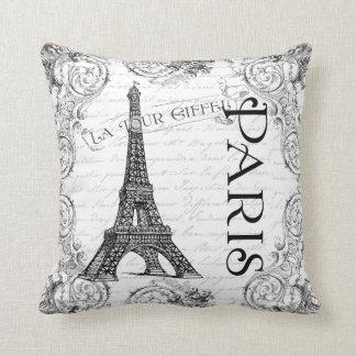 Rouleaux de Français de Tour Eiffel de Paris Oreiller
