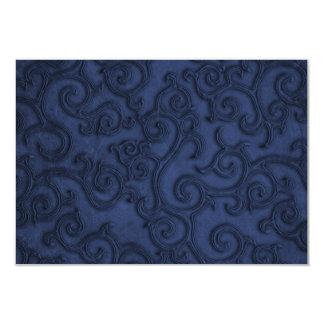 Rouleaux de relief de regard de bleu marine carton d'invitation 8,89 cm x 12,70 cm
