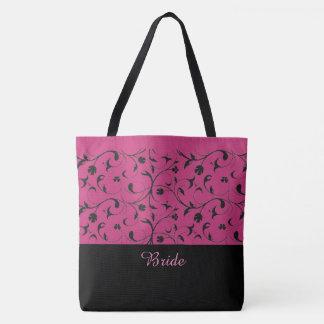 Rouleaux de roses indien et de noir de sac