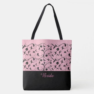 Rouleaux roses et noirs de sac fourre-tout à jeune