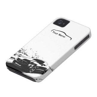 """Roulement de mustang tiré - """"ajoutez votre propre coque iPhone 4 Case-Mate"""