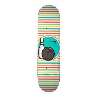 Roulement Rayures lumineuses d arc-en-ciel Skateboard Customisable