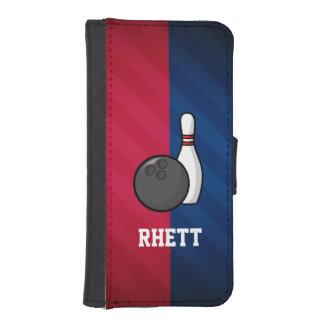 Roulement ; Rouge, blanc, et bleu Coque Avec Portefeuille Pour iPhone 5