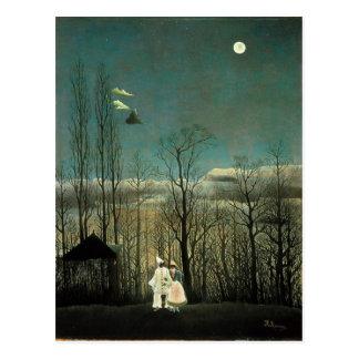 Rousseau - soirée de carnaval carte postale