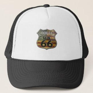 route66flag casquettes de camionneur