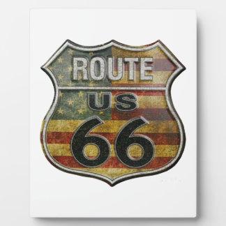 route66flag plaque photo